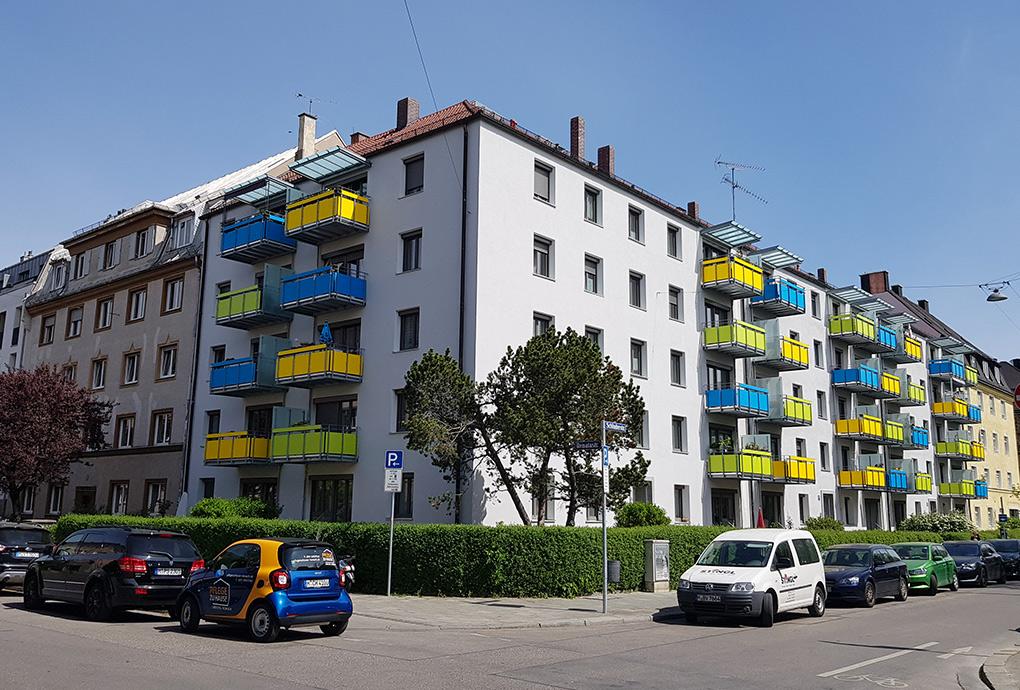 Der sanierte Bau an der Schluderstraße