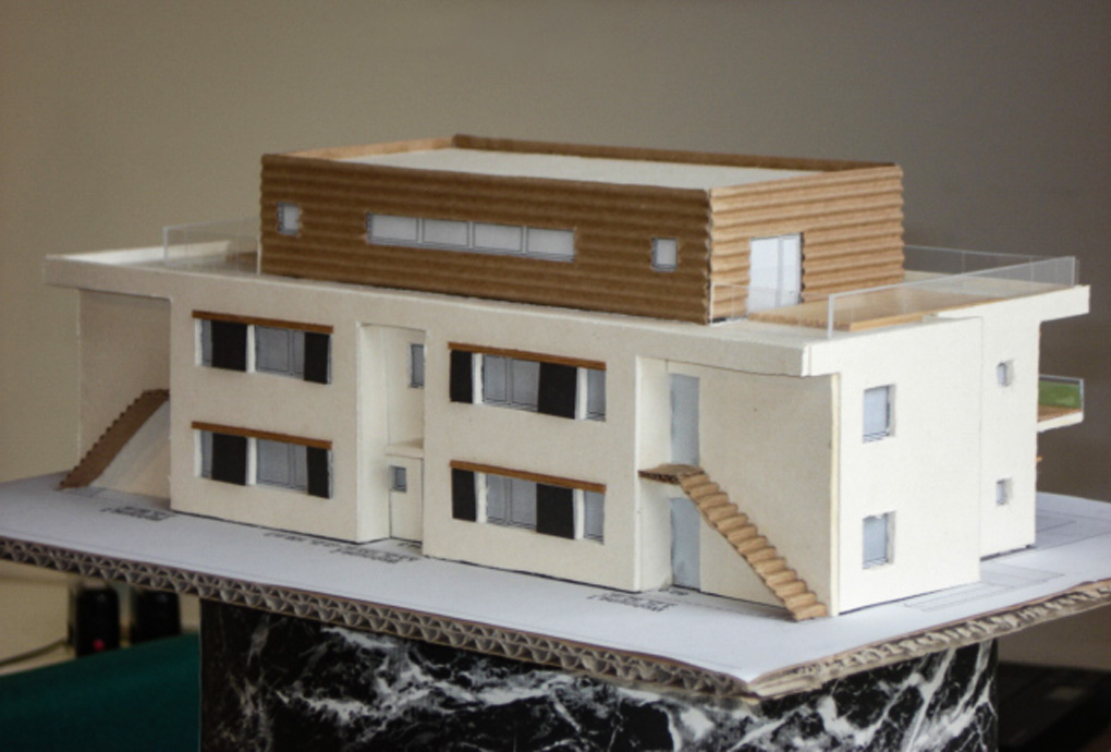 Arbeitsmodell des Neubaus in Solln