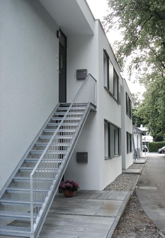 Treppe beim Neubau in Solln