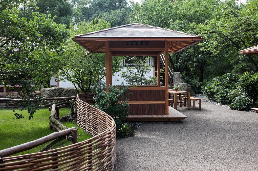 Pavillons im Tao-Garten